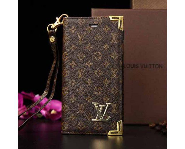 the latest 57fb1 b6c18 Louis Vuitton iPhone 6s Case Brown Wallet Book Cover