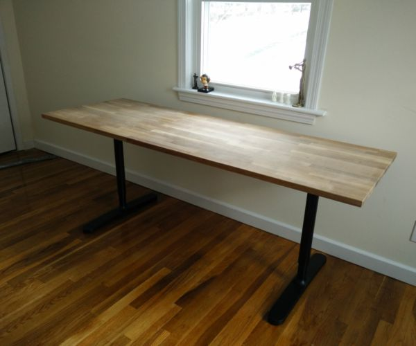 Bekant on lockerdome for Ikea butcher block table