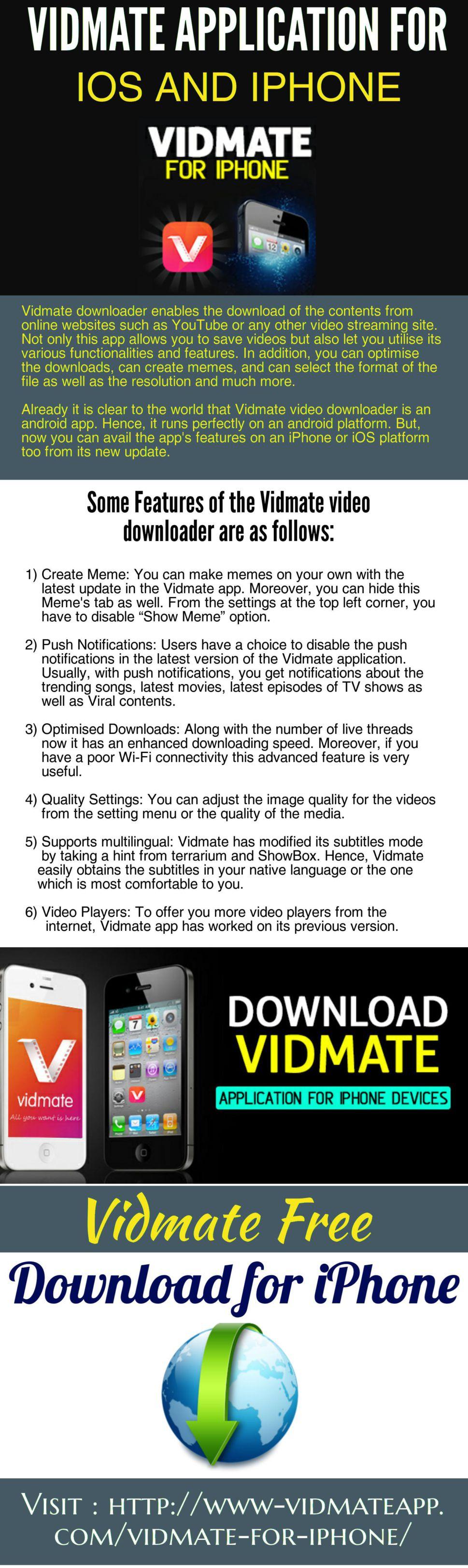 Visit Here: http://www-vidmateapp com/vidmate-for-iphone