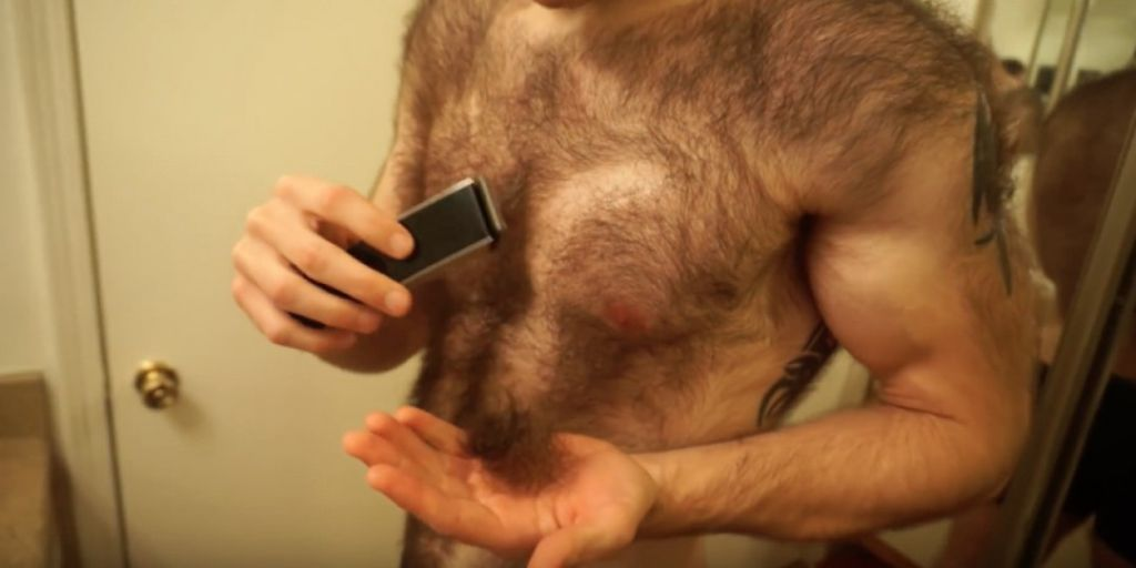 Watch This Shockingly Hairy Guy Shave Off His Copious Amounts Of Body Hair