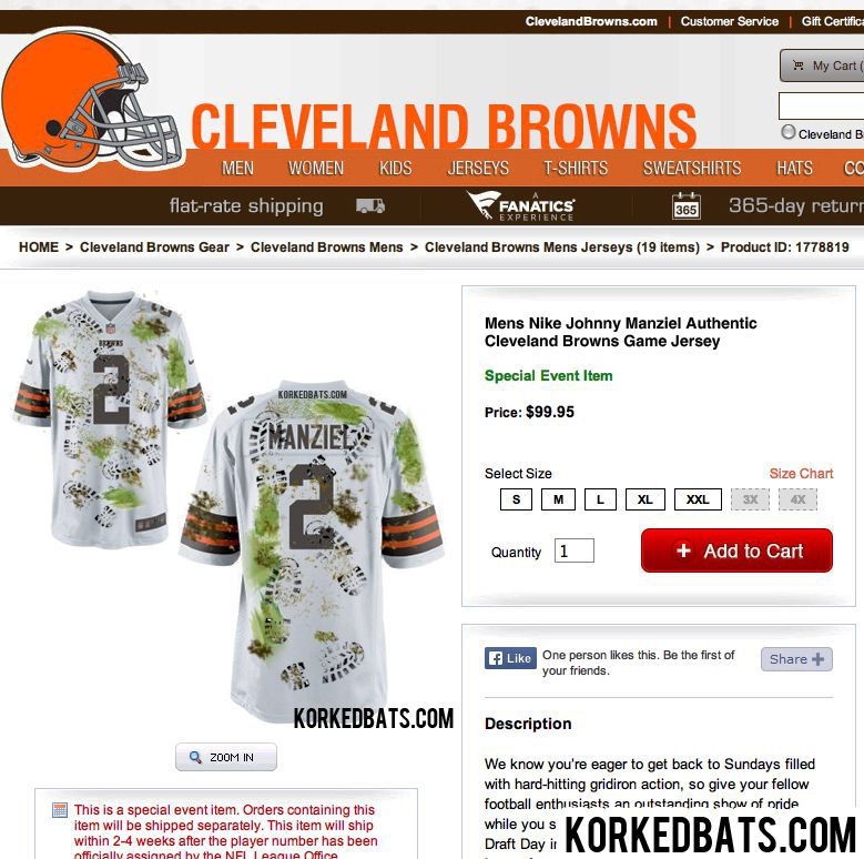 Cleveland Browns >> Cleveland Browns reveal new Johnny Manziel jersey for week ...