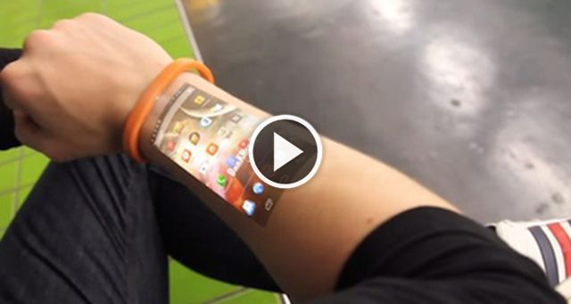 The Cicret Bracelet Displays Phone Content On Your Skin Allowing You To Use S By Touching Arm