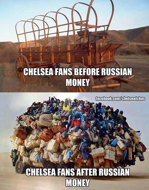 Chelsea Fans Before And After