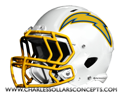 San Diego Chargers White Helmet Concepts