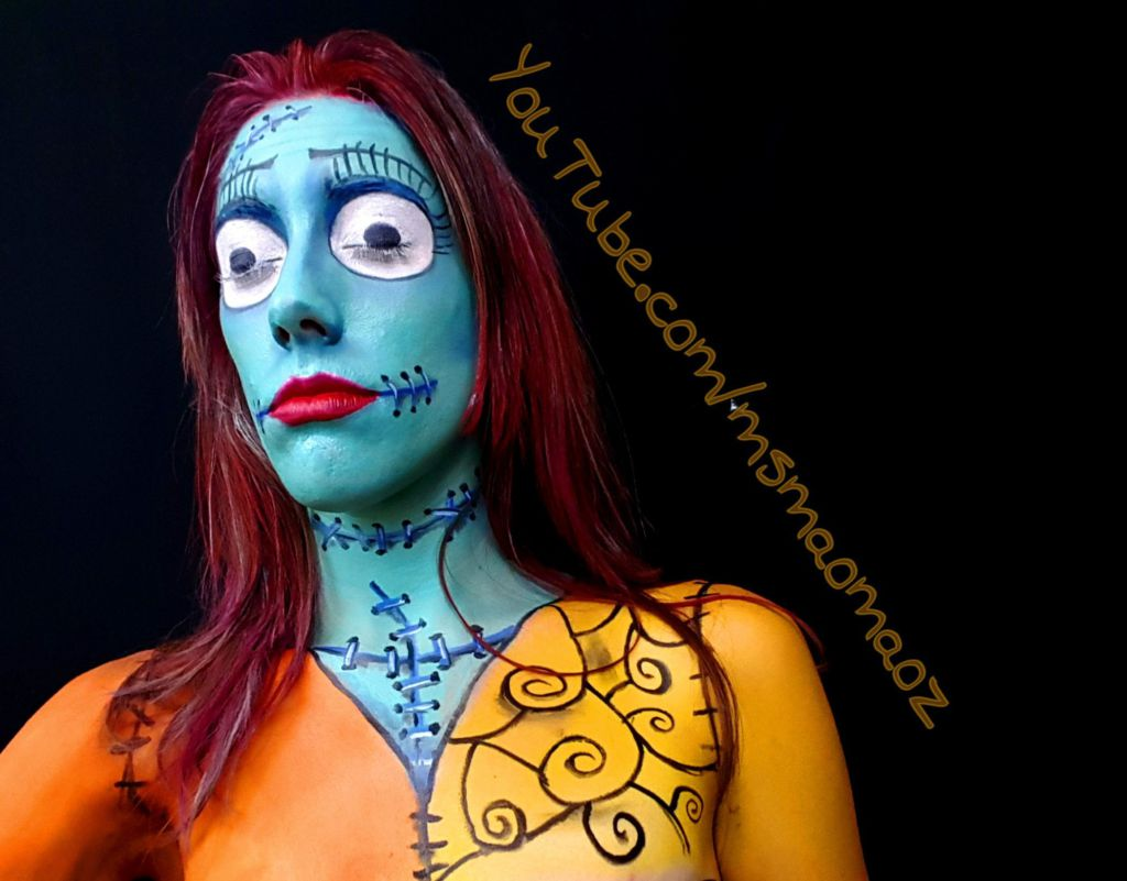 Sally from nightmare before Christmas makeup transformation