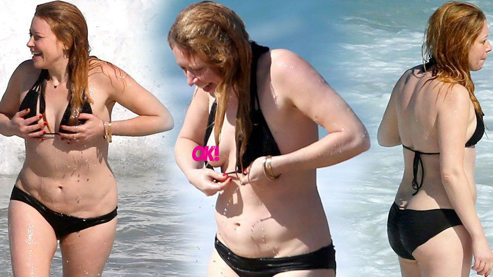 Goddess Orange beach bikini slips