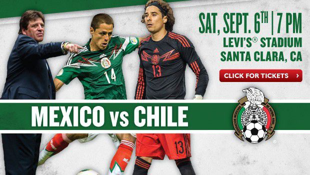 Announced: Mexico vs. Chile on Sept. 6 at Levi's® Stadium