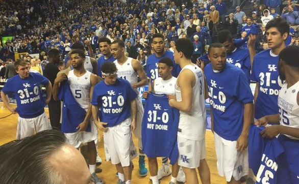"The Undefeated Kentucky Wildcats: Kentucky Players Rock ""31-0 Not Done"" Shirts Following"