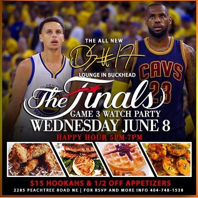 GOLDEN STATE VS. CLEVELAND CAVALIERS @theds17lounge