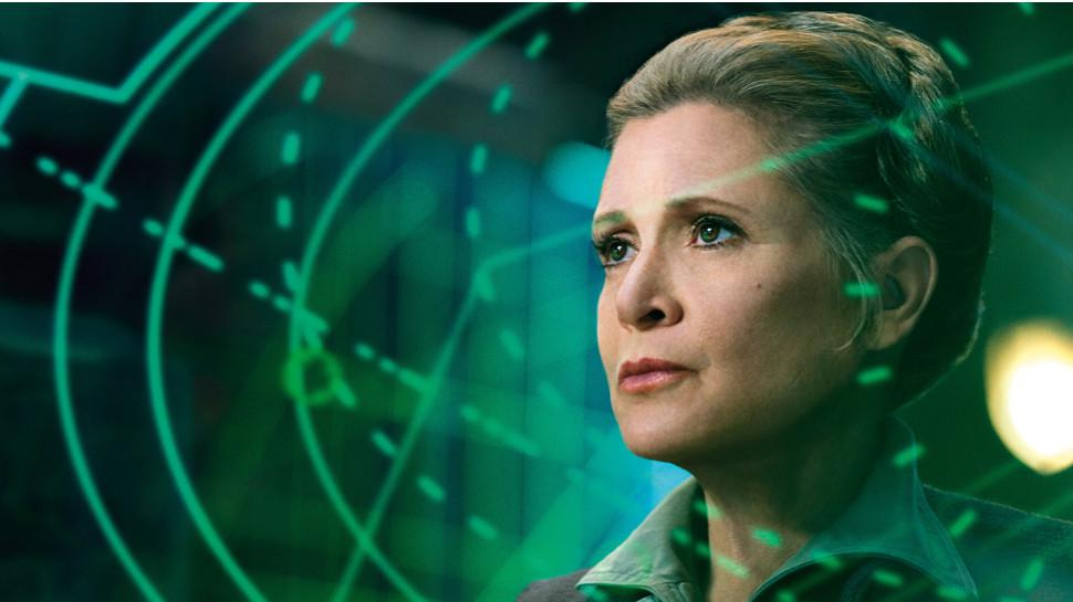 Risultati immagini per carrie fisher force awakens