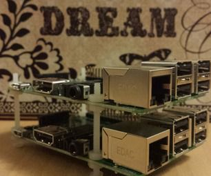 Twin Raspberry Pi B+ Rack Case