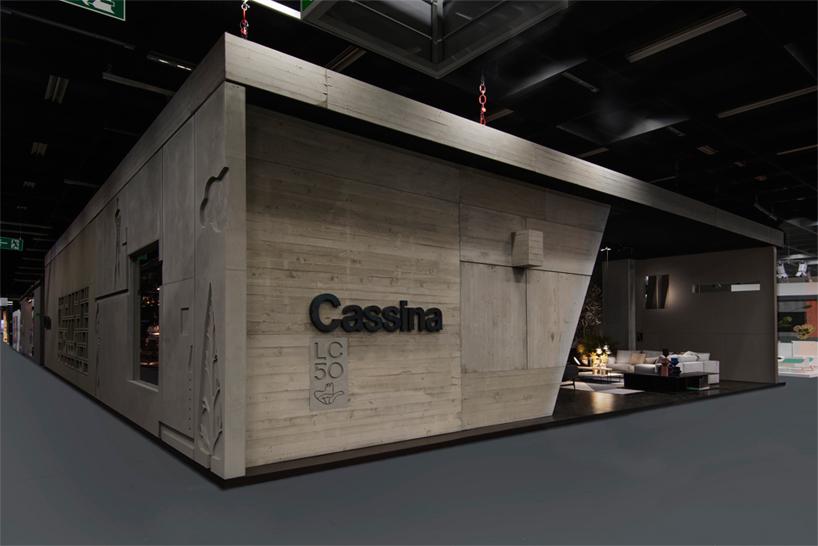 cassina stand at imm cologne cites modern architecture of le corbusier designboom. Black Bedroom Furniture Sets. Home Design Ideas