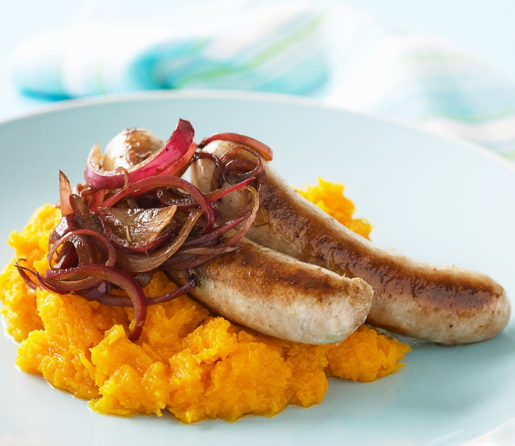 Healthy Recipe for Bangers and Mash