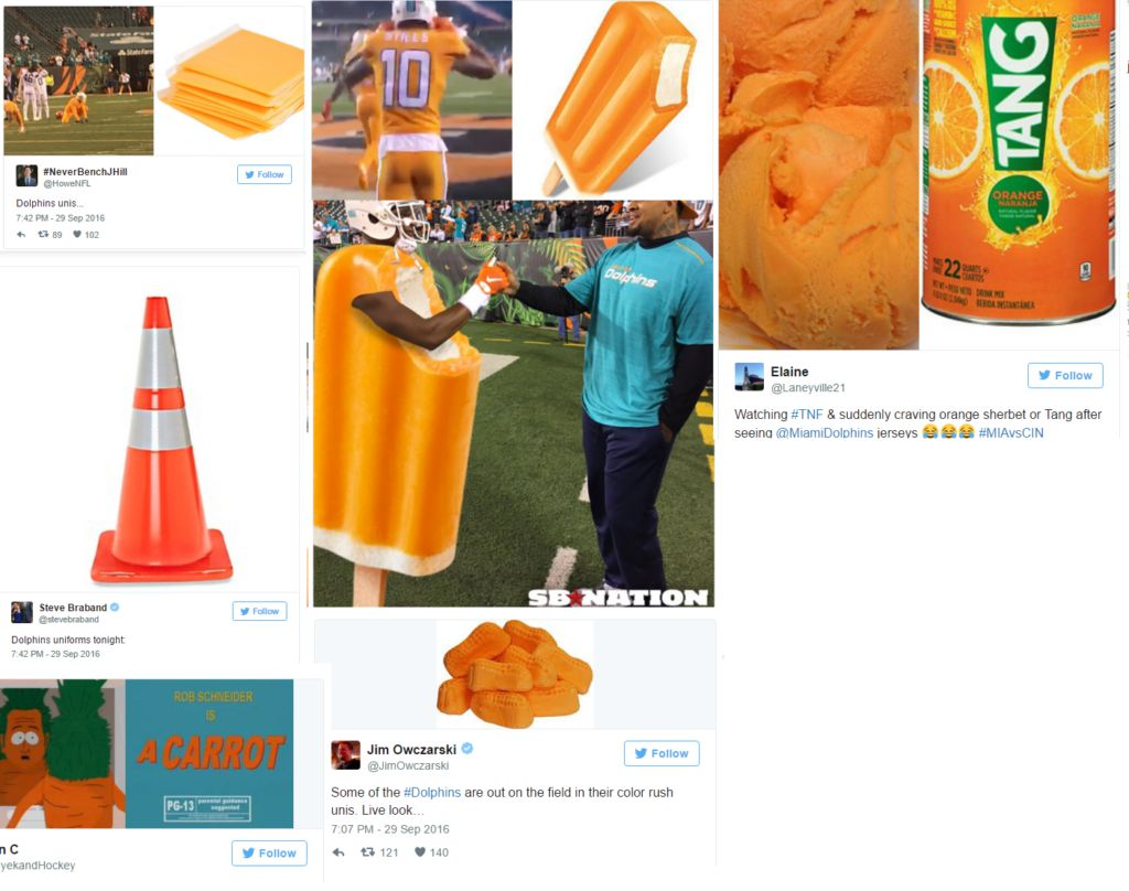 new products afe38 465ff The Miami Dolphins Color Rush Uniforms Are Getting Roasted ...
