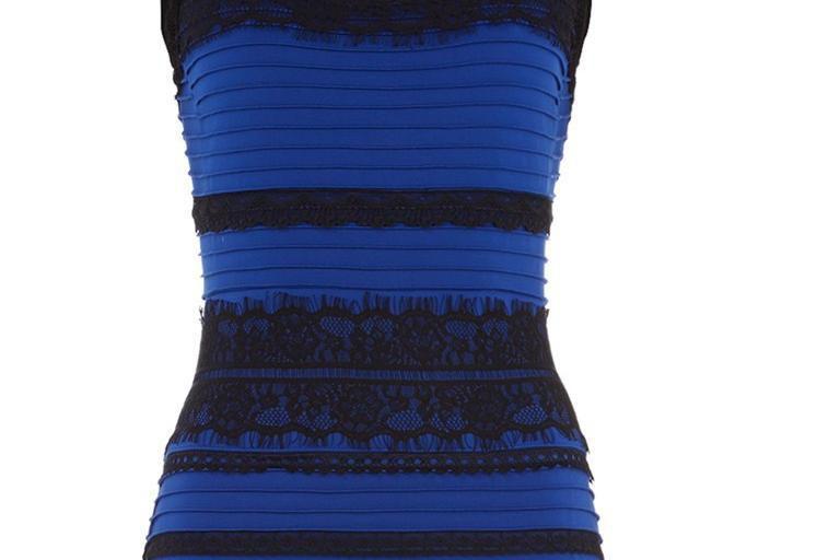 Blue black dress viral