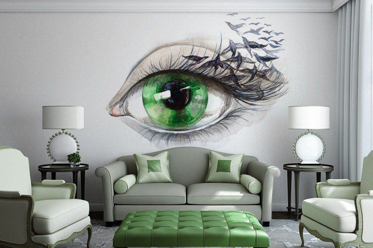 15 refreshing wall mural ideas for your living room for Mural designs