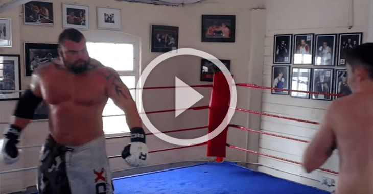 WATCH! #FBF Strongman champion Eddie Hall spars with pro boxer Scott