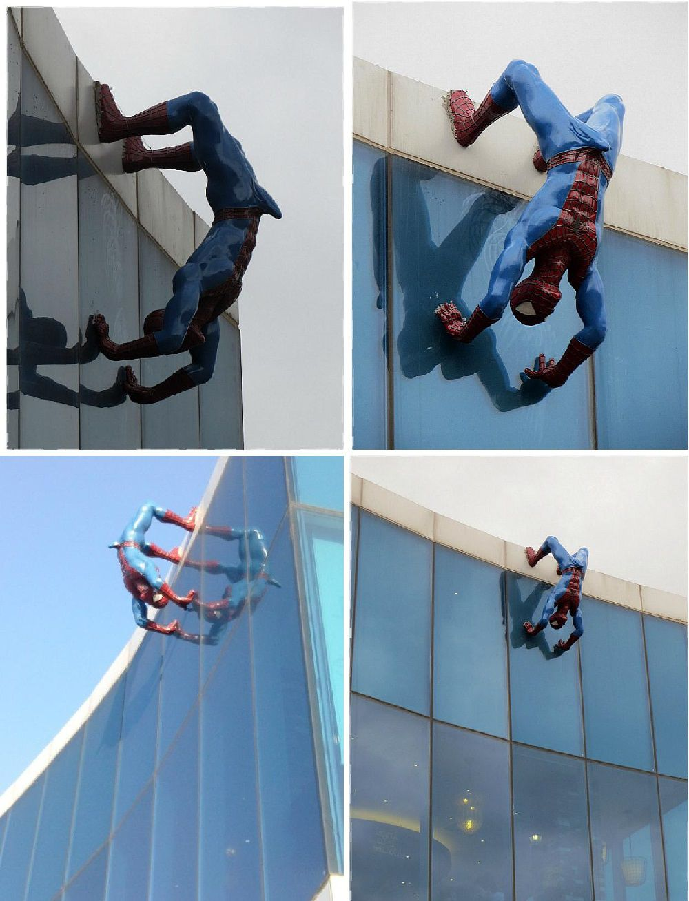 Korea erected a Spiderman sculpture in a public space, offending many