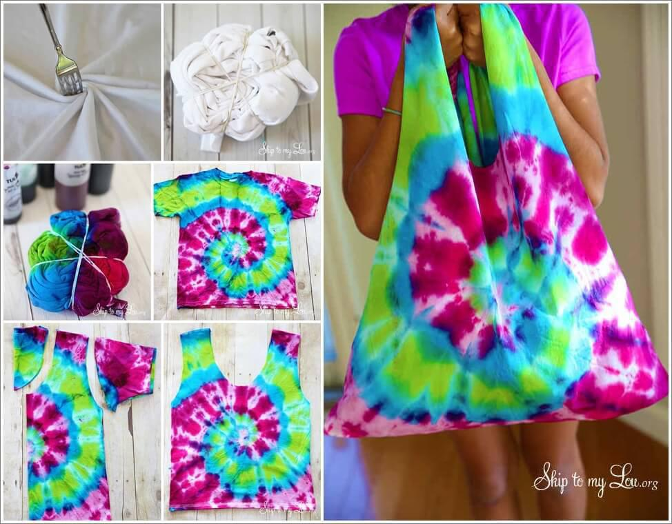 Make A Cool Tie Dye Bag From An Old T Shirtstylish Board
