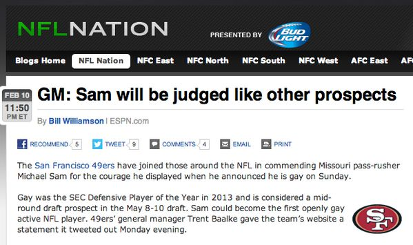 ESPN com article wrote