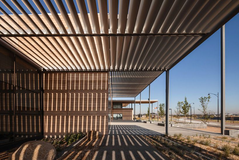 Fjmt Surrounds Craigieburn Library With Shading Louvers In
