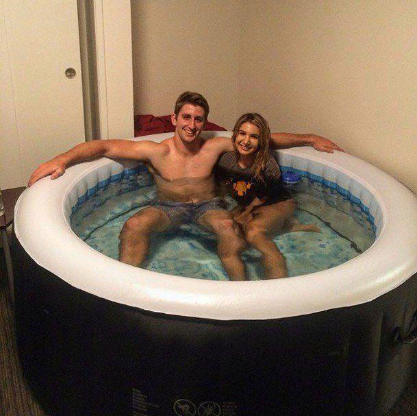 Christine Is Josh Rosen 39 S Hot Tub Girl