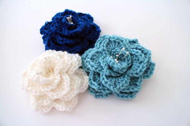 Crocodile Stitch Flower: Free Pattern - B.hooked Crochet