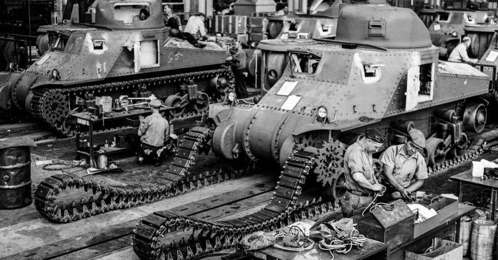 production for mass destruction: The tank factories of World War II