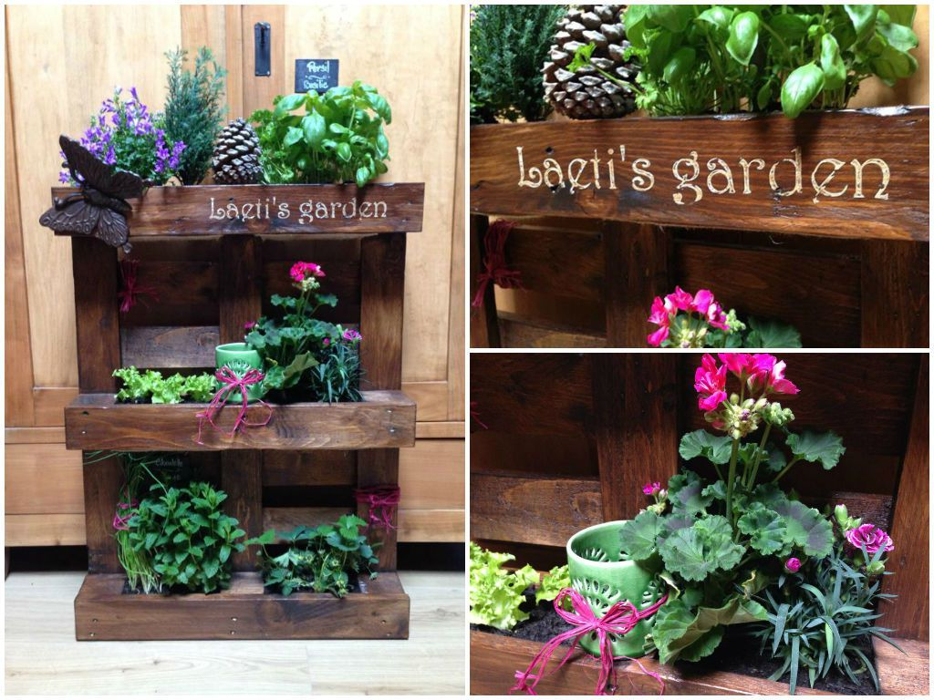mini jardin palette pallet mini vertical garden 1001 pallets. Black Bedroom Furniture Sets. Home Design Ideas
