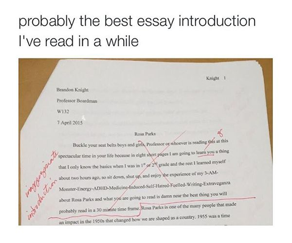 College essay introductions