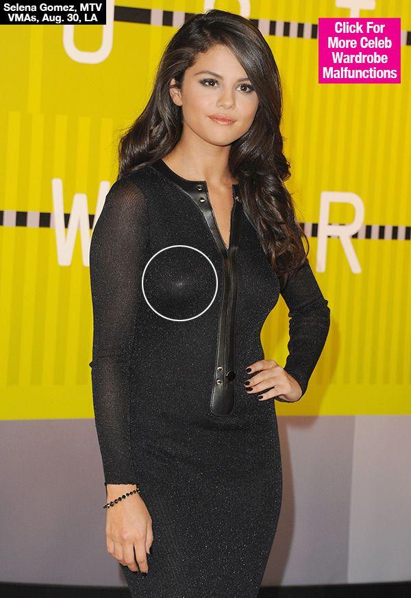 Selena Gomez Wardrobe Malfunction Nipple Pasties Visible