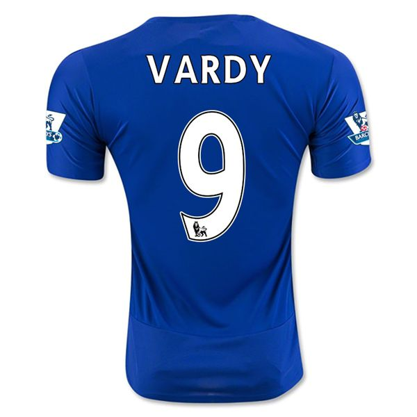 Leicester City 15 16 Vardy Home Soccer Jersey
