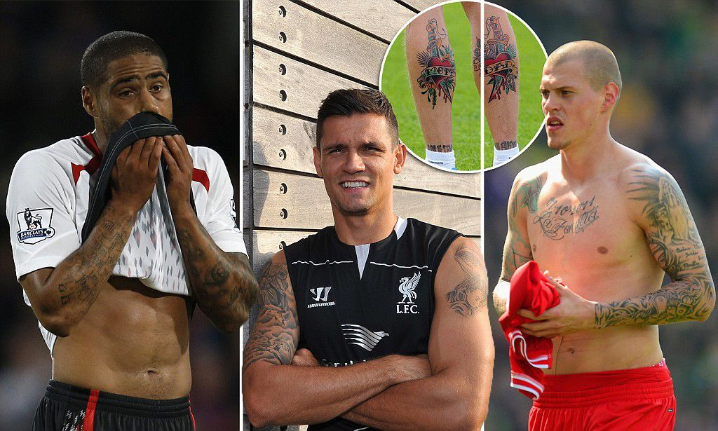 Do Liverpool have the most tattooed defence after Dejan Lovren joined?