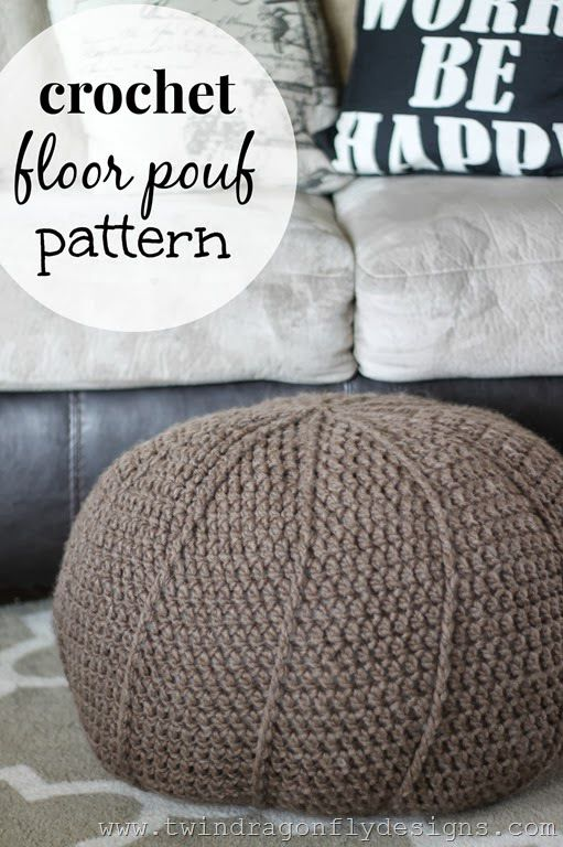 Dragonfly Designs: Free Crochet Floor Pouf Pattern