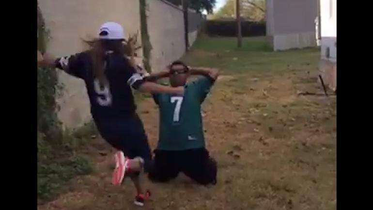 Look Eagles Fan Loses Most Painful Bet Ever To Cowboys -3631