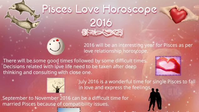 Pisces Love and Relationships Horoscope 2016