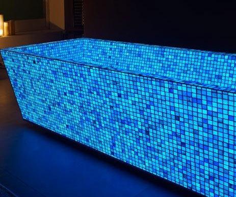 Blue Photoluminescent Mosaic Tiles