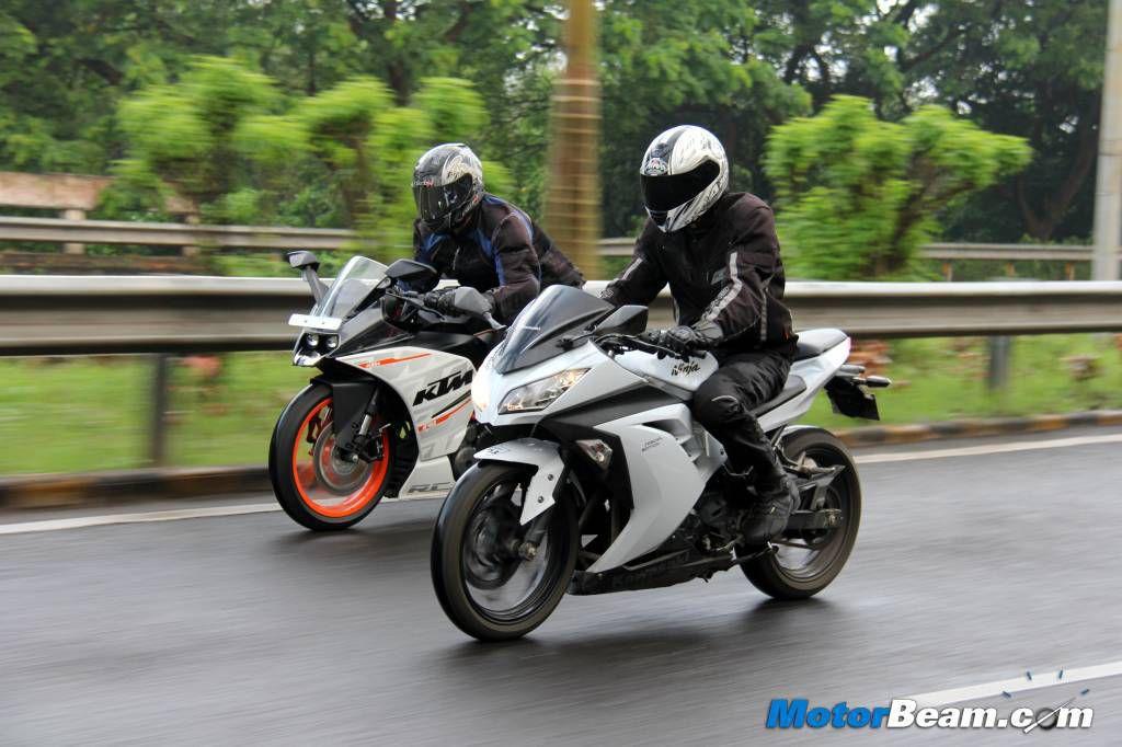 Ktm Rc Vs Kawasaki Ninja Top Speed