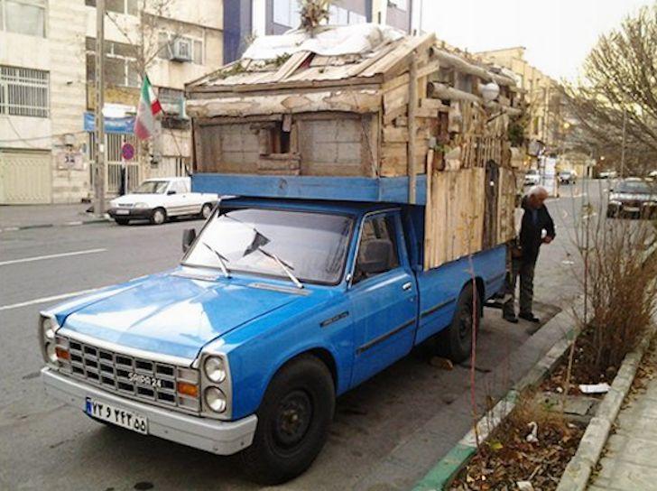 Man Lives In Diy Truck Camper In Tehran Iran