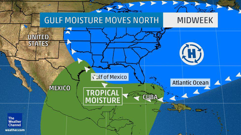 Heavy Rain, Flooding Possible For Gulf Coast, Southern ...