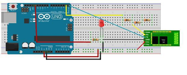 Led control using arduino bluetooth and android part