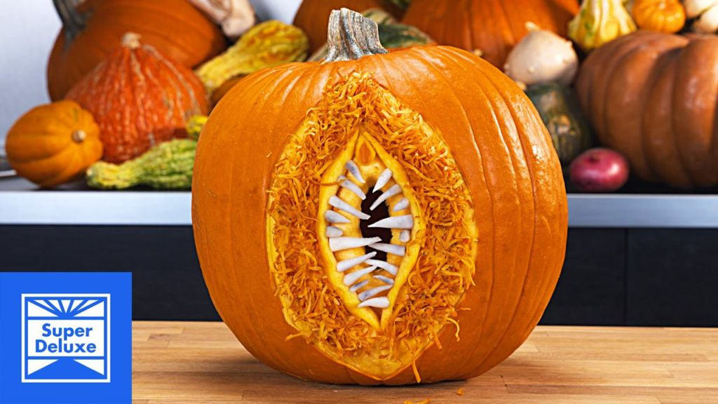 Omg here s some terrifyinly sexual pumpkin carving to get