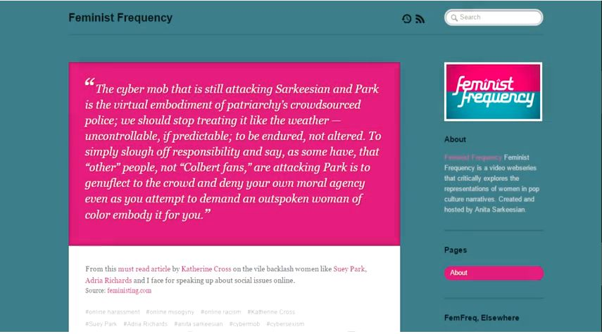 feministfrequency youtube - 855×475