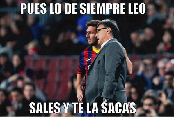 """Las """"instrucciones"""" del Tata a Messi"""