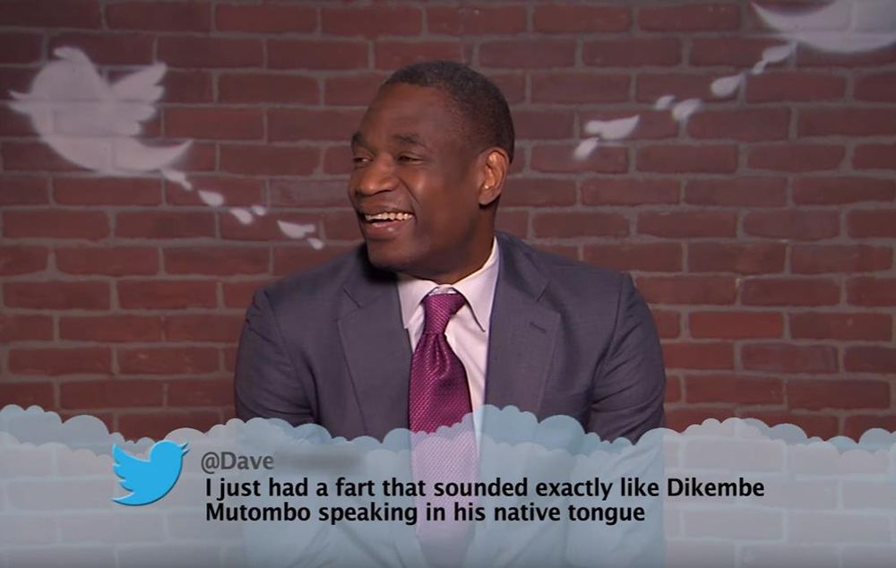 Dikembe Mutombo's NBA 'Mean Tweets' reaction is priceless
