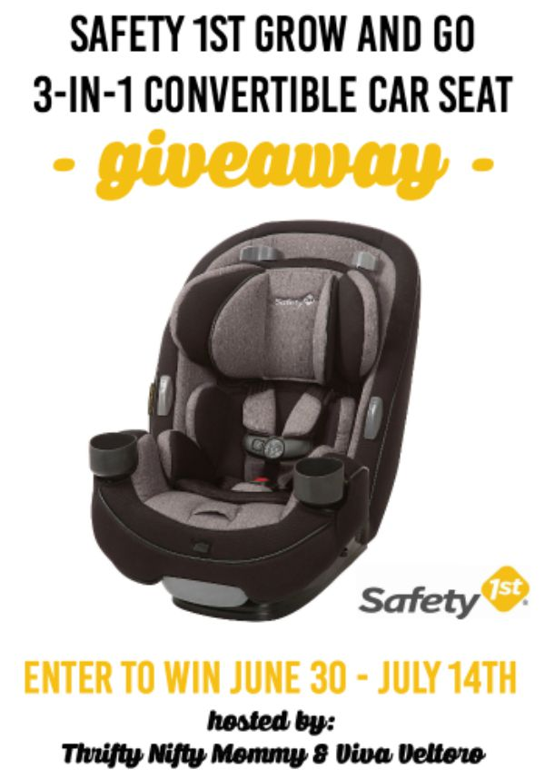 safety 1st grow and go 3 in 1 convertible car seat giveaway ends 7 14 conservamom. Black Bedroom Furniture Sets. Home Design Ideas