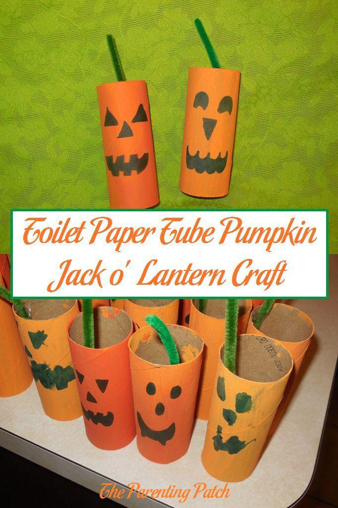 jack o lantern craft toilet paper pumpkin o lantern craft 4764