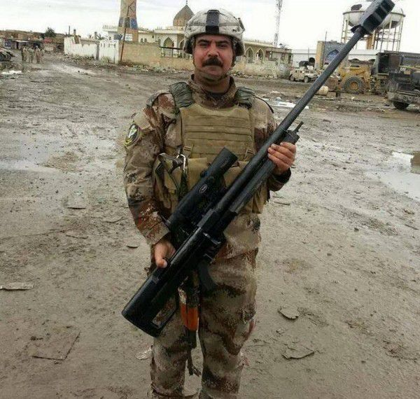 Iranian AM50 and Russian ORSIS T-5000 rifles in Iraq