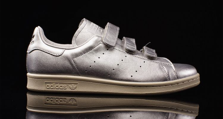 nigo x adidas stan smith silver available now nice kicks. Black Bedroom Furniture Sets. Home Design Ideas