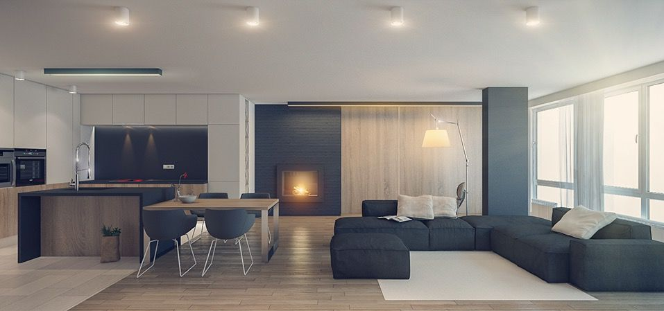 Three sleek apartments under 1500 square feet from all in studio includes floor plans